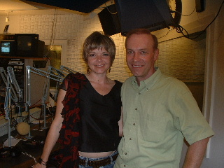 With KARRIN ALLYSON during her engagement at LE JAZZ AU BAR